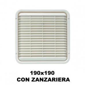 AREATORE DA APPOGGIO 190X190MM. CON ZANZARIERA PER CAMPER E CARAVAN
