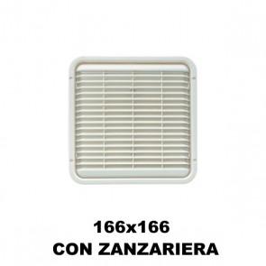 AREATORE DA APPOGGIO 166X166MM. CON ZANZARIERA PER CAMPER E CARAVAN