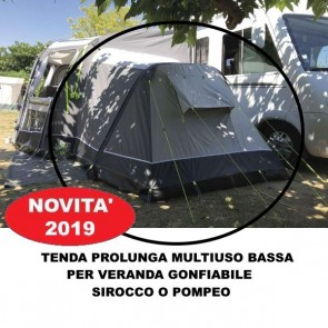 TENDA PROLUNGA MULTIUSO BASSA CAMERA PER VERANDA GONFIABILE SIROCCO PAMPEO SUMMERLINE