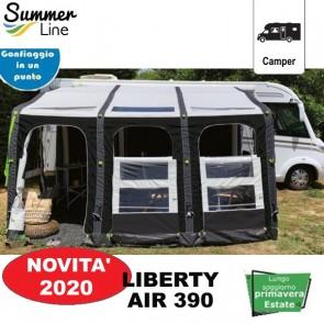 VERANDA PNEUMATICA GONFIABILE AUTOPORTANTE LIBERTY AIR 390 H 230-295 CM SUMMERLINE PER CAMPER
