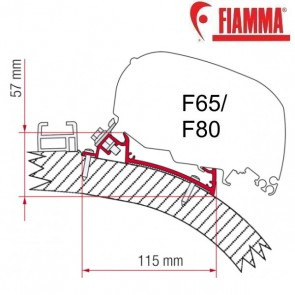 ADAPTER CARTHAGO CHIC 450 OPTIONAL PER TENDALINI FIAMMA F65 e F80 ADATTATORE STAFFE PER CAMPER