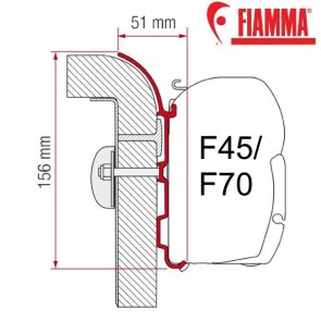 ADAPTER BÜRSTNER OPTIONAL PER TENDALINI FIAMMA F45 + F70 ADATTATORE STAFFA PER CAMPER