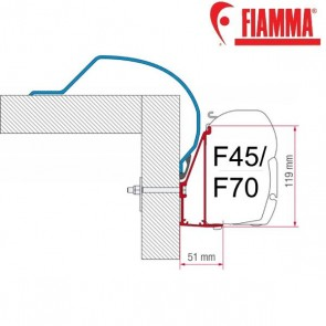 ADAPTER ARCA OPTIONAL PER TENDALINI FIAMMA F45 + F70 ADATTATORE STAFFA PER CAMPER