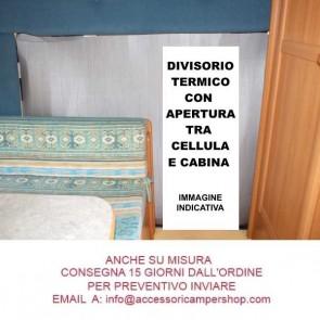 OFFERTISSIMA DIVISORIO TERMICO CABINA-CELLULA PER CAMPER E MOTORHOME CON APERTURA