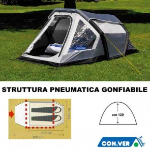 TENDA COMPACT 2XL PNEUMATICA GONFIABILE 2 POSTI DA CAMPEGGIO