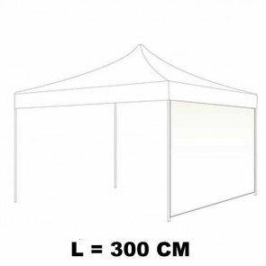 TELO LATERALE 300 CM CIECO COLORE BIANCO PER GAZEBO AUTOMATICO SIMPLE