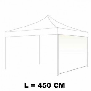 TELO LATERALE 450 CM CIECO COLORE BIANCO PER GAZEBO AUTOMATICO SIMPLE