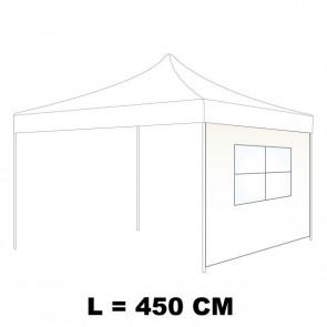 TELO LATERALE 450 CM CON FINESTRA IN PVC  CRISTAL COLORE BIANCO PER GAZEBO AUTOMATICO SIMPLEBIANCO PER GAZEBO AUTOMATICO SIMPLE 40