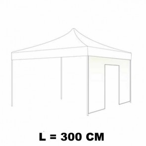 TELO LATERALE 300 CM CON PORTA COLORE BIANCO PER GAZEBO AUTOMATICO SIMPLE
