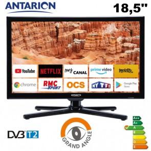 """TELEVISORE SMART TV ANTARION LED 18,5"""" ULTRA HD DVB-T2 PER CAMPER VAN  MOTORHOME CARAVAN BARCHE"""