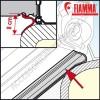 GUARNIZIONE RAIN GUARD LOWER FIAMMA PER FIAMMASTORE PER TENDALINI FIAMMA F45S F45L E F70
