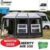 NOVITÀ 2020 VERANDA PNEUMATICA GONFIABILE AUTOPORTANTE LIBERTY AIR 330 H 230-295 CM SUMMERLINE PER CAMPER