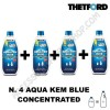 N. 4 FLACONI AQUA KEM BLUE CONCENTRATED CONCENTRATO THETFORD