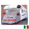 COPERTURA TERMICA ESTERNA PER COFANO CABINA CAMPER POLAR EXTREME - SPESSORE 13 MM. VEDI MODELLO